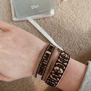 Set of Woven Dior Bracelets